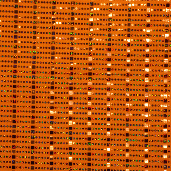 Neon Orange Squares and Circles 4-way Stretch Sequin Fabric