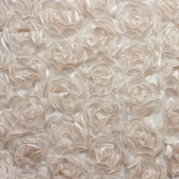 Large Ivory Rosette Fabric
