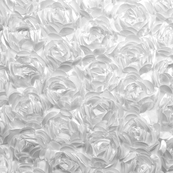 Large White Rosette Fabric