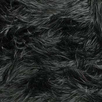 Black Mongolian Faux Fur