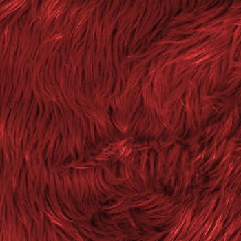 Red Shag Faux  Fur