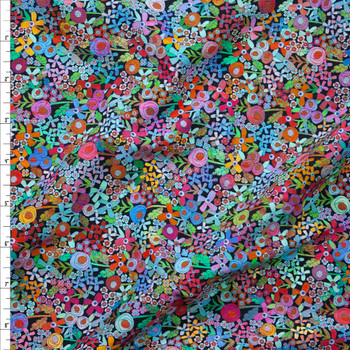 Happy Place Rainbow Stretch Cotton Jersey by Robert Kaufman Fabric By The Yard