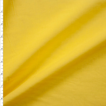 Sunshine Yellow Cotton Lawn Fabric By The Yard