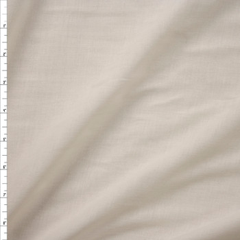 Ivory Lightweight Cotton Lawn Fabric By The Yard
