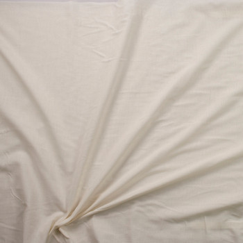 Ivory Lightweight Cotton Lawn Fabric By The Yard - Wide shot