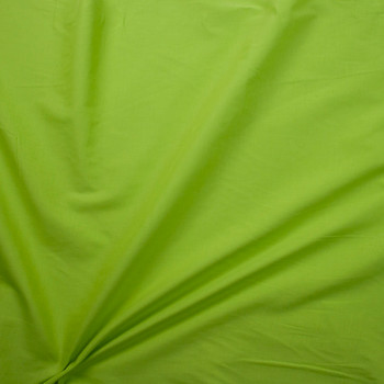 Lime Green Cotton Lawn Fabric By The Yard - Wide shot