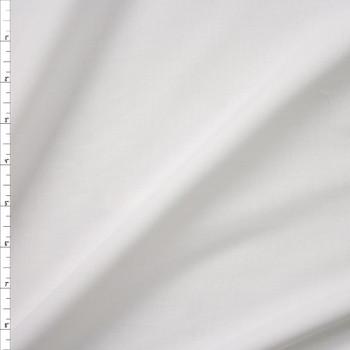 White Fine Designer Cotton Lawn Fabric By The Yard