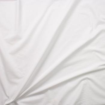 White Fine Designer Cotton Lawn Fabric By The Yard - Wide shot