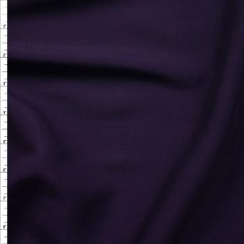 Dark Violet Rayon Challis Fabric By The Yard