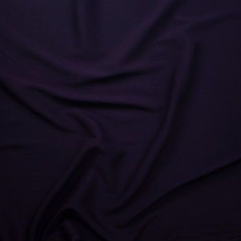 Dark Violet Rayon Challis Fabric By The Yard - Wide shot