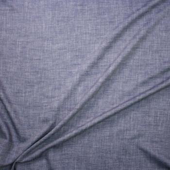 Designer Indigo Light Midweight Denim Fabric By The Yard - Wide shot