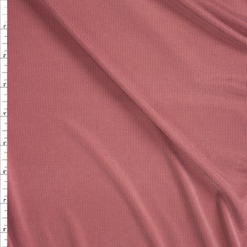 Mauve Ribbed Modal Cupro Knit Fabric By The Yard