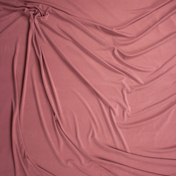 Mauve Ribbed Modal Cupro Knit Fabric By The Yard - Wide shot
