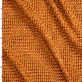 Caramel Chunky Waffle Knit Fabric By The Yard