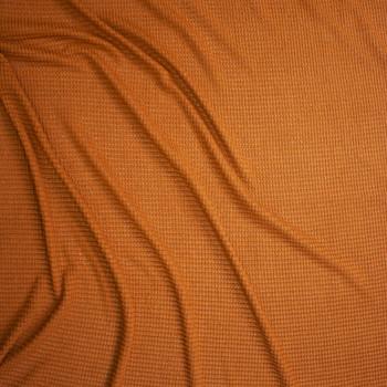 Caramel Chunky Waffle Knit Fabric By The Yard - Wide shot
