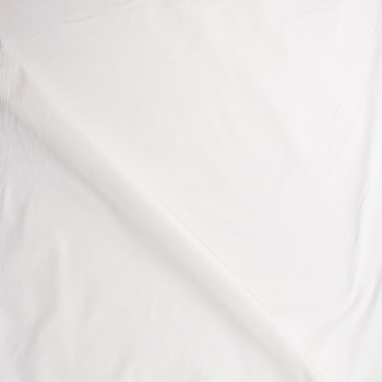White Designer Stretch Cotton Sateen Fabric By The Yard - Wide shot