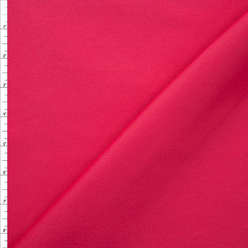 Hot Pink Designer Stretch Cotton Sateen Fabric By The Yard