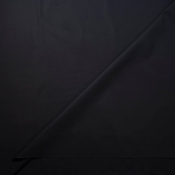 Black Heavy Midweight Cotton Ripstop Fabric By The Yard - Wide shot