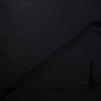 Black Heavy Cotton Twill Fabric By The Yard - Wide shot