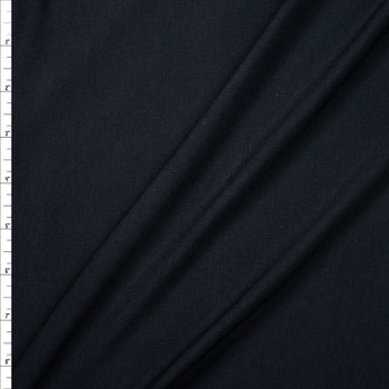 Black Midweight Designer Stretch Modal Jersey Knit Fabric By The Yard