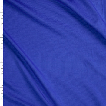Blue Midweight Designer Stretch Modal Jersey Knit Fabric By The Yard