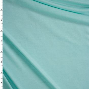 Baby Mint Midweight Designer Stretch Modal Jersey Knit Fabric By The Yard