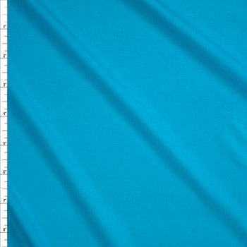 Turquoise Midweight Designer Stretch Modal Jersey Knit Fabric By The Yard