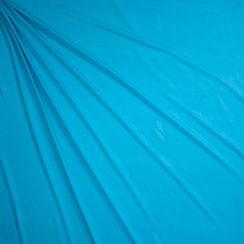 Turquoise Midweight Designer Stretch Modal Jersey Knit Fabric By The Yard - Wide shot