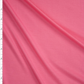 Bright Pink Midweight Designer Stretch Modal Jersey Knit Fabric By The Yard