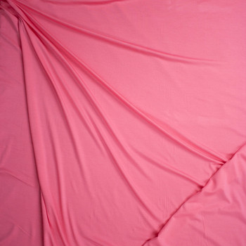 Bright Pink Midweight Designer Stretch Modal Jersey Knit Fabric By The Yard - Wide shot