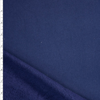 Navy Blue Heavyweight Cotton Sweatshirt Fleece Fabric By The Yard