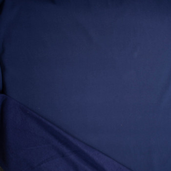 Navy Blue Heavyweight Cotton Sweatshirt Fleece Fabric By The Yard - Wide shot