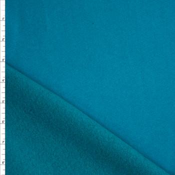 Teal Heavyweight Cotton Sweatshirt Fleece Fabric By The Yard