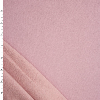 Blush Pink Heavyweight Cotton Sweatshirt Fleece Fabric By The Yard