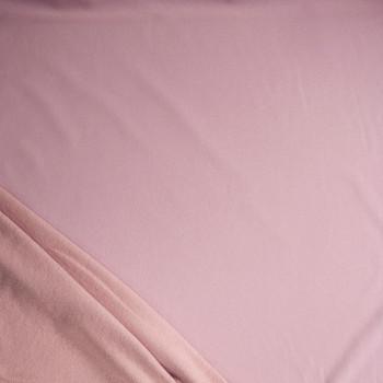 Blush Pink Heavyweight Cotton Sweatshirt Fleece Fabric By The Yard - Wide shot