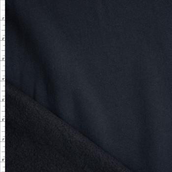 Black Heavyweight Cotton Sweatshirt Fleece Fabric By The Yard