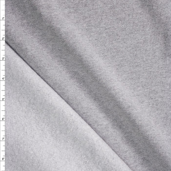 Heather Grey Heavyweight Cotton Sweatshirt Fleece Fabric By The Yard