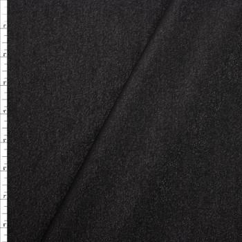 Black Sparkle Ponte De Roma Fabric By The Yard