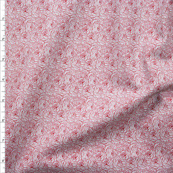 Tootal Twill Overlay Burgundy on Grey Lightweight Cotton Twill from Robert Kaufman Fabric By The Yard
