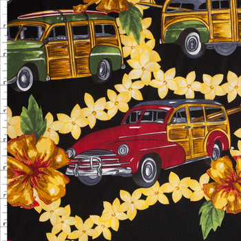 Leis and Station Wagons Quilter's Cotton Print Fabric By The Yard