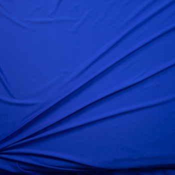 Royal Blue Stretch Light Midweight Athletic Knit Fabric By The Yard - Wide shot