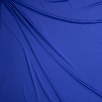 Royal Blue Stretch Midweight Athletic Knit Fabric By The Yard - Wide shot