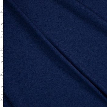 Navy Heather Moisture Wicking Athletic Knit Fabric By The Yard