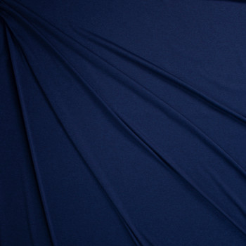 Navy Heather Moisture Wicking Athletic Knit Fabric By The Yard - Wide shot