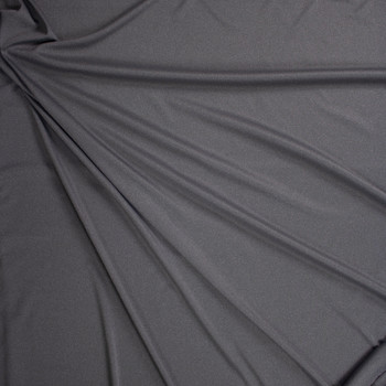 Medium Grey Heather Moisture Wicking Athletic Knit Fabric By The Yard - Wide shot