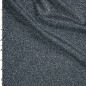 Dark Grey Heather Moisture Wicking Athletic Knit Fabric By The Yard