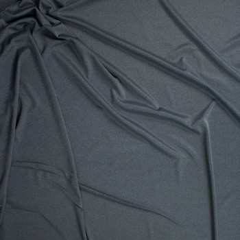 Dark Grey Heather Moisture Wicking Athletic Knit Fabric By The Yard - Wide shot