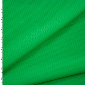 Grass Green Moisture Wicking Perforated Stretch Double Knit Fabric By The Yard