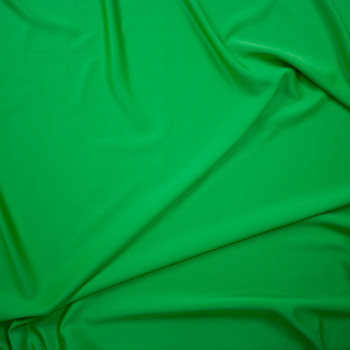 Grass Green Moisture Wicking Perforated Stretch Double Knit Fabric By The Yard - Wide shot