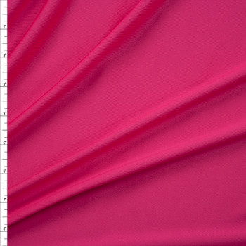 Hot Pink Moisture Wicking Athletic Knit Fabric By The Yard